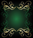 Green floral  banner Royalty Free Stock Photography