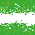 Green Floral Banner Design Royalty Free Stock Photo