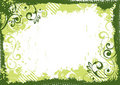 Green Floral Frame Stock Photos