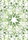 Green floral ornaments Stock Images