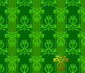 Green Floral Patten. Stock Photo