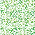 Green floral pattern seamless or background Stock Photography