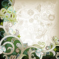 Green Floral Scroll Royalty Free Stock Images