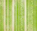 Green  floral wood carved stripes Royalty Free Stock Photo