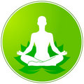 Green floral yoga Royalty Free Stock Photo