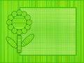 Green flower frame abstract stripes and plaid framed background Royalty Free Stock Photos