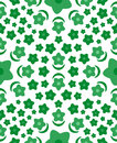 Green flower seamless  pattern Royalty Free Stock Photos