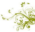 Green flower and vines pattern Stock Image