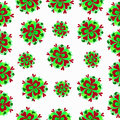 Green flowers on a white background pattern Royalty Free Stock Photo