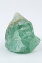 Green fluorite. Mineral natural stone on a white background