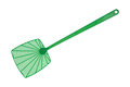Green fly swatter Royalty Free Stock Photo