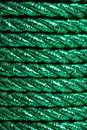 Green foil cord ribbon Stock Image