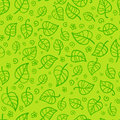 Green foliage cartoon vector seamless pattern this is file of eps format Royalty Free Stock Photography