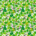 Green foliage seamless pattern Stock Photo