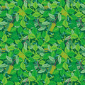 Green foliage seamless repeat pattern Stock Image