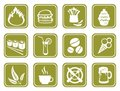 Green food symbols Stock Photo