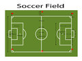 Green Football Field ground, Green soccer filed ground. Measurements standard. Sport vector illustration, image, jpeg