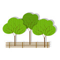 Green forest icon on white Royalty Free Stock Image
