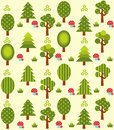 Green forest pattern Royalty Free Stock Photo