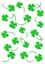 Green four leaf clover Royalty Free Stock Photos