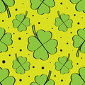 Green four leaf clover seamless pattern Royalty Free Stock Photo