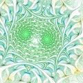 Green fractal swirls Royalty Free Stock Photo
