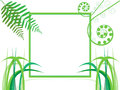 Green frame Stock Photography