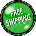Green free shipping button Royalty Free Stock Photo