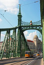 Green Freedom bridge, Budapest Royalty Free Stock Images