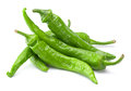 Green fresh chili pepper isolated on white Stock Image