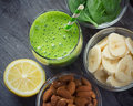 Green fresh healthy smoothie Royalty Free Stock Photo