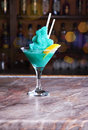 Green frozen cocktail Stock Image