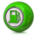 Green fuel icon Royalty Free Stock Photography