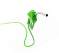 Green fuel nozzle Royalty Free Stock Photo