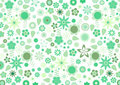 Green funky flowers and leaves retro pattern Royalty Free Stock Photo