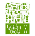 Green garden tools
