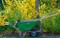 Gardener`s Wheelbarrow At Keukenhof Gardens, Lisse, South Holland
