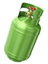 Green gas container isolated on white background d render Royalty Free Stock Photo