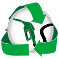 Green Gasoline Icon Stock Image
