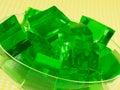 Green Gelatin Stock Image