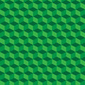 Green geometric seamless cubes pattern background. Vector Royalty Free Stock Photo