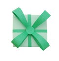 Green gift with bow Royalty Free Stock Images