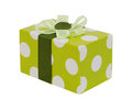 Green gift with bow Royalty Free Stock Photo