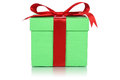 Green gift box for gifts on Christmas, birthday or Valentines da Royalty Free Stock Photo