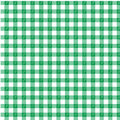 Green gingham a design with a leaf motif Stock Photo