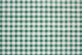 Green gingham tablecoth background tablecloth often found in diners and cafes a popular traditional covering for tables where food Royalty Free Stock Images