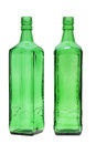 Green glass bottle isolated on white background Royalty Free Stock Images