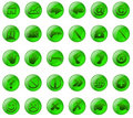 Green glass buttons Royalty Free Stock Photo