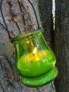Green Glass Candle Hanging Fro...