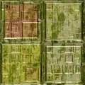 Green glass mosaic square tiles seamless Royalty Free Stock Photo